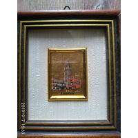 Итальянская миниатюра на золоте 23 карат, редкая