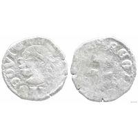 YS: Венгрия, денарий 14 века (1373-1382), Лайош I Великий, серебро, Huszar# 547