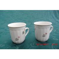 Две чайные чашки Фарфор Городница