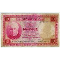 Исландия, 10 крон 1928 год.