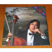 Yo-Yo Ma. Elgar & Walton - Cello Concertos LP, 1985