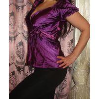 Нарядная блуза фуксия 46