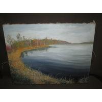 Картина пейзаж озеро Нарочь,авторская А.Мучинский 2002 г.