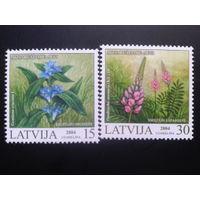 Латвия 2004 цветы полная серия
