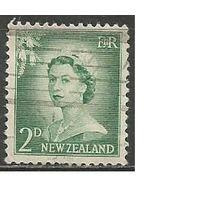 Новая Зеландия. Королева Елизавета II. 1955г. Mi#356.