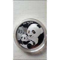 Монета Панда Китай 10 юаней Серебро 2019 Proof