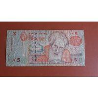 Банкнота   5 песо Уругвай 1998