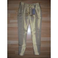 Вечерние шелковые брюки итальянского люксового бренда ERMANNO SCERVINO, 100 % оригинальные