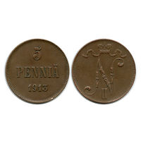Финляндия. 5 пенни 1913 г.