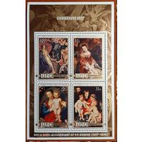 1977 Рождество Искусство/Живопись/Религия Niue Лот - блок** Рубенс