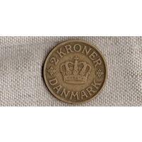 Дания 2 кроны 1925 //(Sx)