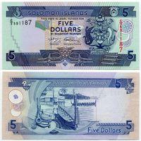 Соломоновы острова. 5 долларов (образца 2009 года, P26, UNC)