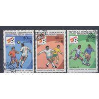 [670] Мадагаскар 1982. Спорт.Футбол.  Гашеная серия.