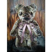 Леопардовый мишка, медведь, игрушка, ручная работа.