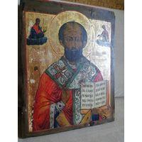 Икона Николай Чудотворец 19 век. Размер!