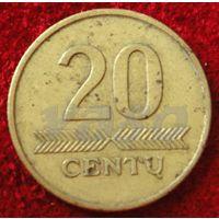 7409:  20 центов 1998 Литва