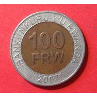 Руанда 100 франков, 2007г.