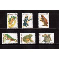 Суринам-1981,(Мих.948-953) **  , Фауна, лягушки