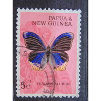 Папуа Новая-Гвинея 1966 г. Бабочки.