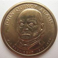 США 1 доллар 2008 г. (D) 6-й Президент США Джон Куинси Адамс (j)