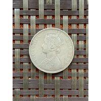 Индия, Княжество Биканир 1 рупия 1897 г., редкая