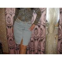 Очень Красивая Юбка джинсовая р-р 46 (марк.44)