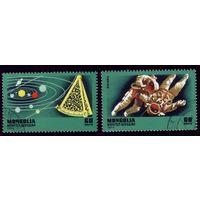 2 марки 1977 год Монголия Законы Ньютона 1049-1050