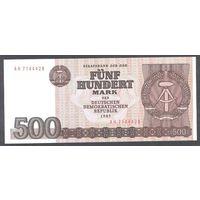 ГДР 1985 500 марок UNC