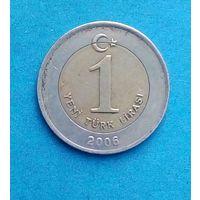 Турция 1 новая лира 2006 год  km1169