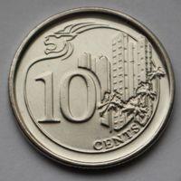 Сингапур, 10 центов 2014 г