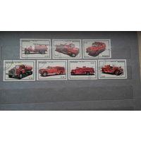 Пожарные машины, автомобили, ретро, транспорт, техника, марки, Никарагуа, 1983