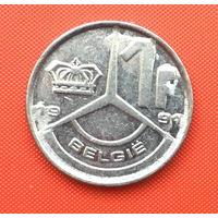 Бельгия, 1 франк 1991 г. Фламандский тип. Распродажа!