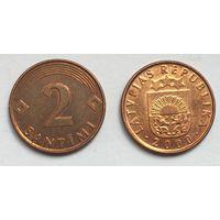 Латвия, 2 сантима 2000