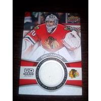 Карточка НХЛ с фрагментом игровой формы К. Кроуфорд