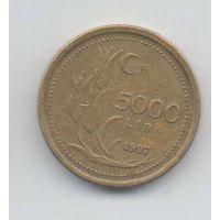 ТУРЕЦКАЯ РЕСПУБЛИКА  5000 ЛИР  1997. ТЮЛЬПАНЫ.