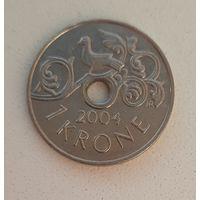 Норвегия 1 крона 2004 _ метка MF_единственная на АУ_блестит