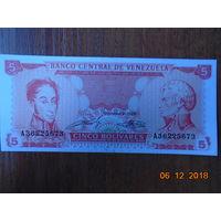 Венесуэла 5 боливаров 1989 UNC