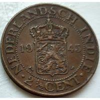 Голландская Ост-Индия 2.5 центa, 1945 1-6-6