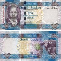 Южный Судан 10 фунтов 2011 год UNC