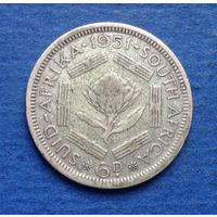 Южная Африка Британский доминион 6 пенсов 1951 Георг VI тип 3