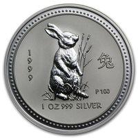 Куплю монеты Австралии Lunar Series 1 (1999 - 2010) (1oz) серебро UNC