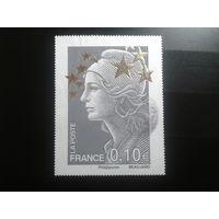 Франция 2012 стандарт 0,10 марка из блока