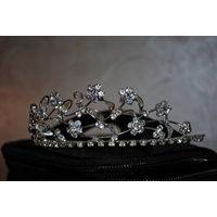 Хрустальная диадема, как корона,  под фату для прекрасной невесты, новая и очень красивая!