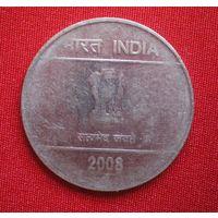 2 Рупии /Индия/ монетный двор Хайдарабад/2008 г.