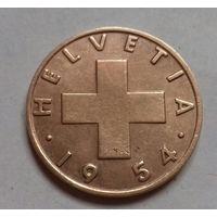 2 раппена, Швейцария 1954 г.