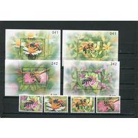 Таиланд. Пчелы. Комплект серия и блоки