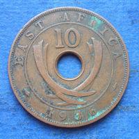 Восточная Африка Британская колония 10 центов 1936 Эдуард VIII