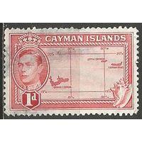 Кайманы. Король Георг VI. Карта. 1938г. Mi#103.