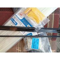 Стяжка (хомут) кабельная нейлоновая 7*500 мм чёрная и белая цена за 1 шт