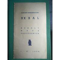 20 Bal Szkoly nauk politycznych 1938